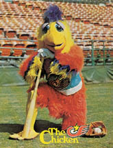 the san diego chicken is SUPER best