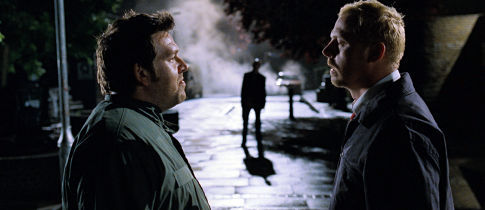 Ed (Nick Frost) and Shaun (Simon Pegg) encounter their first zombie ... or do they?